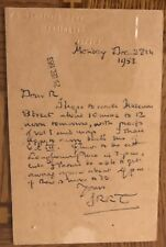 J.R.R.Tolkien 1953 SIGNED postcard/letter to Rayner Unwin Re Lord of the Rings!
