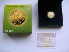 """100 Euro Goldmünze Spanien 2013 """" Fußball-WM 2014 in Brasilien """""""