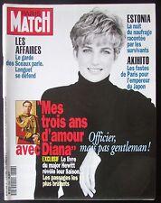 PARIS MATCH 1994 LADY DIANA  SURVIVANT NAUFRAGE ESTONIA LA PESTE EN INDE AKIHITO