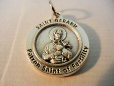 """Saint Gerard Medal Patron Saint of Fertility New!  Made in Italy!  3/4"""" round"""