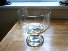 VINTAGE GLASS PEDESTAL BOWL