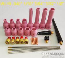 31 pcs TIG Torch Gas Lens Nozzle parts Kit for WP-9 WP-20 WP-25 WL15 Tungsten