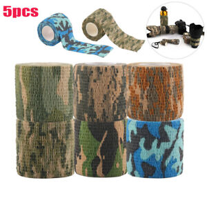 5pcs Outdoor Hunting Camouflage Stealth Tape For Airsoft Waterproof Wrap