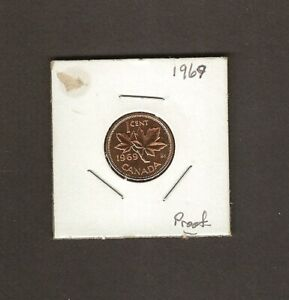 CANADA ONE CENT COIN - 1969 - FULL LUSTRE