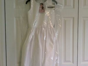 NWT US ANGELS WHITE SATIN DRESS! GIRLS 10 $129.00+ MUST SEE!