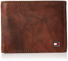 Tommy Hilfiger Men's RFID Leather Traveler Bifold Passcase Wallet Tan