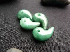 100% Natural Jade Green Aventurine Magatama Shinto pendant bead necklace 25mm