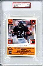 1985 MCDONALDS ORANGE WALTER PAYTON PSA 8 POP 4  HOF Chicago Bears