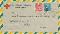 BRAZIL 1956 Airmail-cover from the Brazilian Red Cross to the Intern. Red Cross