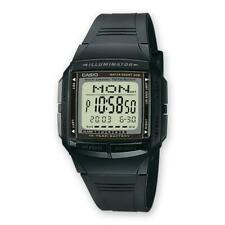 Reloj CASIO DATA BANK DB-36-1AVDF Silicona Negro Chrono Timer Dual Time DD