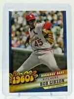 2020 Topps Series 2 Decades Best Bob Gibson Blue Parallel #DB-14 Cardinals