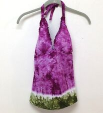 Lucky Brand Purple / Green Fine Quality Bikini Top Size D