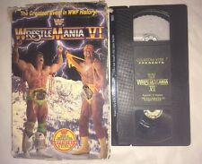 WWF - WrestleMania 6 VI (VHS, 1990) WWE WCW NWO HULK HOGAN COLISEUM VIDEO