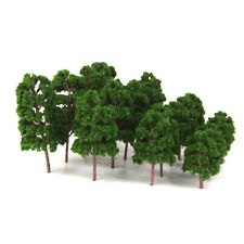 20x Model Trees Deep Green HO N Scale Train Model Kits Railroad Layouts