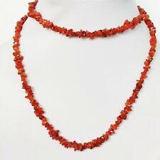 Beaded Necklace Jewelry 34'' Wwv Natural Gemstone Carnelian Uncut Chips Women