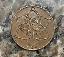 1922 (1340) Morocco coin - 10 Mazunas