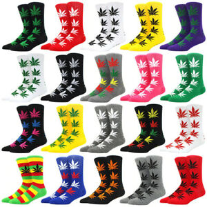 1 pair Cotton Mens womens sock party dress casual Dress weed funny socks men