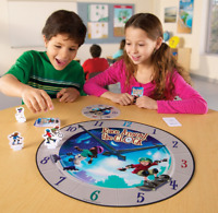 Kids Race Around The Clock Board Game Learn To Tell The Time Child's Learning N