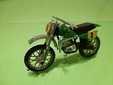 POLISTIL GT671 MOTORCYCLE HONDA 500 RCM CROSS No 1 - GREEN 1:24 - GOOD CONDITION