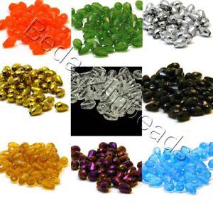 20 Faceted Glass 12mm Teardrop Shape Beads 1/2 inch Long Tear Drops for Jewelry