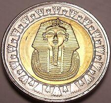 Gem Unc Bi-Metal Egypt 2010 1 Pound~King Tutankhamun~Read The History~Free Ship