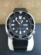 MENS SEIKO 6309-7049 AUTOMATIC DIVE WATCH 200M WITH BLACK RUBBER STRAP KINETIC