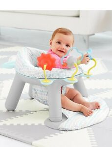 Skip Hop Silver Lining Cloud Baby Chair: 2-in-1 Sit-up Floor Seat