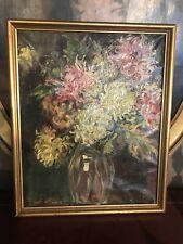 Bouquet de fleurs,Huile sur toile,Signé,XX°.
