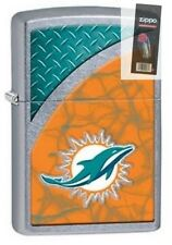 Zippo 29367 Miami Dolphins NFL Street Chrome Finish Lighter + FLINT PACK