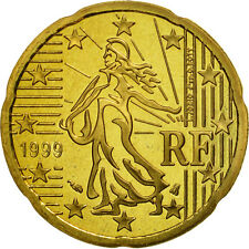[#462050] France, 20 Euro Cent, 1999, BE, Laiton, KM:1286