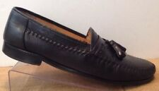 Sandro Moscoloni Loafers Shoes Mens 9.5 Black Leather Spain Angelo Tassel Dress