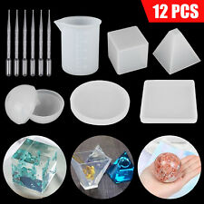 Silicone Casting Molds Resin Jewelry Making Mould Epoxy Pendant Craft DIY Tool