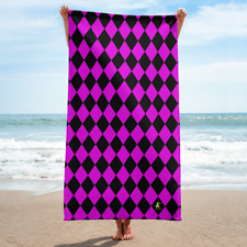 Purple Diamond Beach Towel 30x60 Super Soft Lightweight Bath Towel
