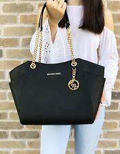 Michael Kors Bag / Bag Jet Set Travel LG Chain Tote Bag Saffiano Black