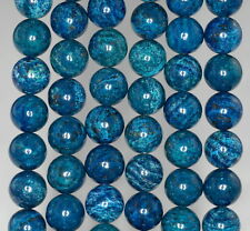 12MM BLUE SCHILLER SHEEN SPAR GEMSTONE ROUND LOOSE BEADS 16""