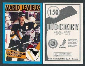 1996-97 Euro Panini Hockey Sticker #150 Mario Lemieux Pittsburgh Penguins