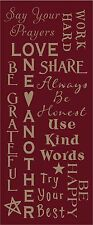 PRIMITIVE ENCOURAGING WORDS TYPOGRAPHY STYLE REUSABLE STENCIL .007 MIL