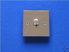 LED / TRAILING EDGE DIMMER LIGHT SWITCH POLISHED CHROME Free Delivery