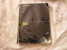 Yale Parts Manual for Model ERC RA/ZA February 1993