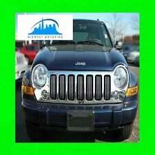 02-11 JEEP LIBERTY CHROME TRIM FOR GRILL GRILLE 03 04 05 06 07 08 09 10 2010