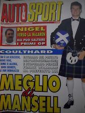 Auto & Sport ROMBO 2 1995 Coulthard anti Schumacher - Imola ore decisive
