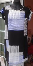 NEW LOOK PURPLE CAP SLEEVED SHORT DRESS WITH COLOURED BEADED TRIM - SIZE 10