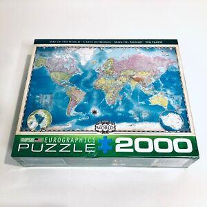 EUROGRAPHICS International Map of the World Large Jigsaw Puzzle 1000 pieces *NIB