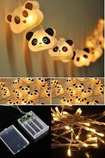 20 Battery Powered LED Cutie Panda mulberry paper Lanterns for Kid party decorat