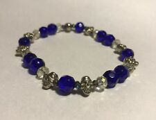 Blue Skull Beaded Men's Fashion Jewelry Bracelet