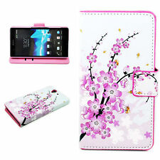 Fold Stand Leather Card Slot Wallet Cover Case For Sony Ericsson Xperia Z L36H