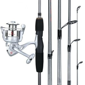 Carbon Fiber Fishing Rod Reel Combo Spinning Rod Combo Kit Set Portable Tackle