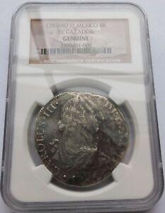 Mexico 1783-Mo Silver 8 Reales El Cazador FF Coin - NGC Genuine Shipwreck