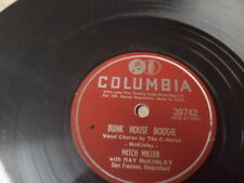 """Columbia 10"""" 78/Mitch Miller-Ray McKinley/Bunk House Boogie/Cuban Nightingale/E"""