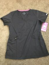 Med Couture Scrub Top Size Xs Pewter Grey Nwt